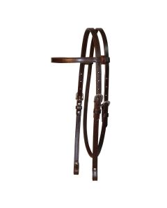 Chicago Screw End Smooth Browband Headstall