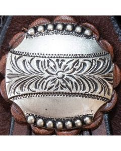 Antique Beaded Crown Concho