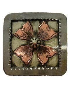 Square Copper Flower Concho