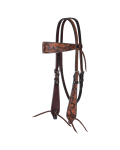 Basketweave Acorn Browband Headstall-3729