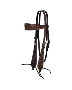 Basketweave Acorn Browband Headstall-3453