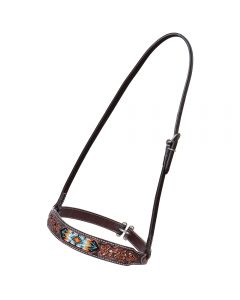 Distressed Beaded Tribal Noseband