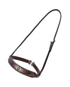 Distressed Beaded Noseband