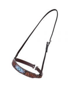 Blue Diamond Beaded Noseband